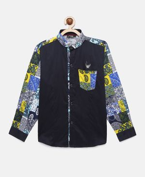 Actuel Full Sleeves Paisley Printed Shirt - Navy Blue