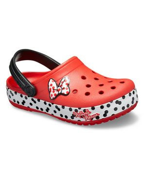Crocs FunLab Minnie Dots Clog - Red