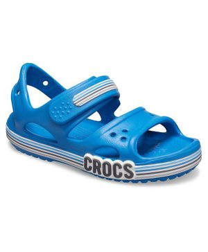 Crocs Crocband Logo Stripe Sandals - Blue