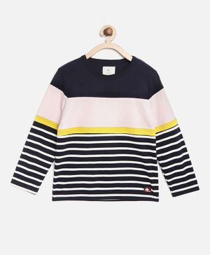 Cherry Crumble by Nitt Hyman Full Sleeves Striped T-Shirt - Multicolor