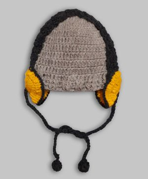 Knitting by Love Head Phone Design Cap - Grey
