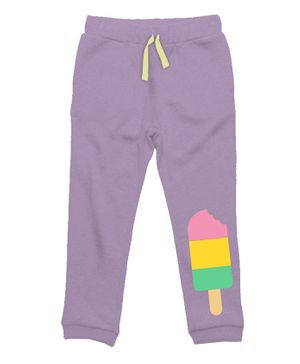 Plan B Popsicle Print Full Length Track Pants - Lavender