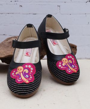 D'chica Hello Butterfly Mary Janes - Black