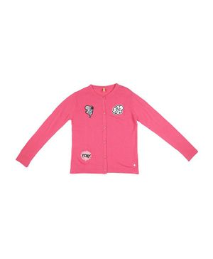 GINI & JONY Full Sleeves Love Patch Sweater - Pink