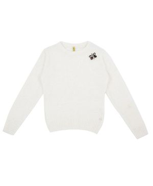 GINI & JONY Full Sleeves Embellished Sweater - White