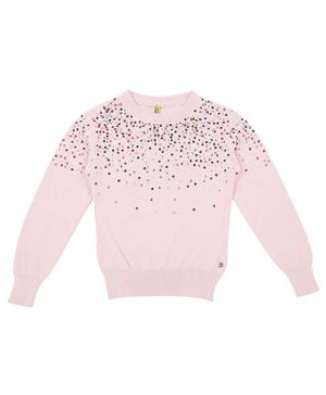 GINI & JONY Full Sleeves Embellished Sweater - Pink
