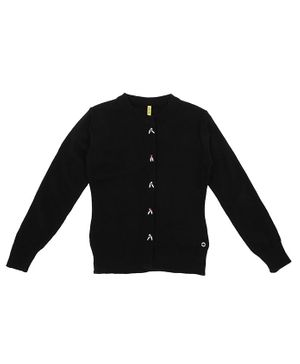 GINI & JONY Full Sleeves Rhinestone Detailed Sweater - Black
