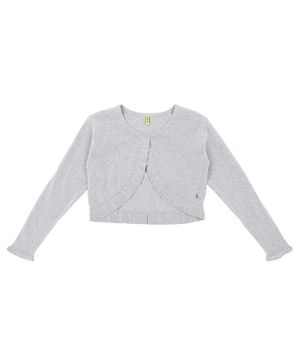 GINI & JONY Full Sleeves Front Open Cardigan - Grey