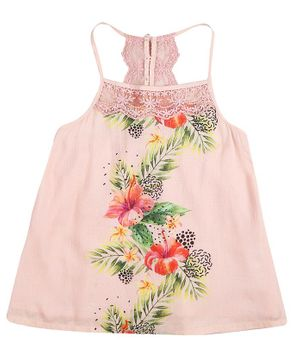 GINI & JONY Sleeveless Flower Print Top - Pink