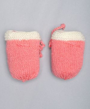 The Original Knit Color Block Mittens - Pink