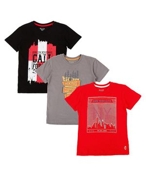 GINI & JONY Pack Of 3 Short Sleeves New York City Print T-Shirts - Multi Colour