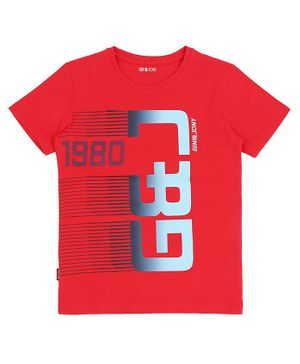 GINI & JONY  Short Sleeves G&J Printed T-Shirt - Red