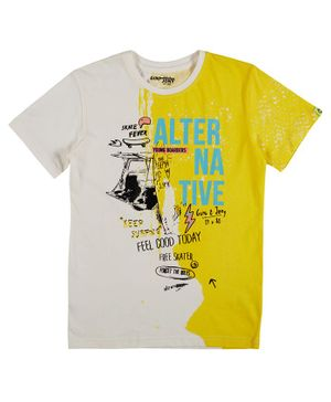 GINI & JONY Short Sleeves Alternative Printed T-Shirt - Yellow