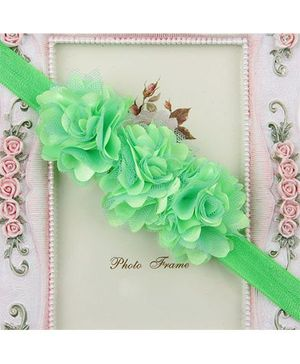 Pikaboo Headband Floral Applique - Green