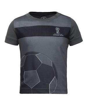 Alcis Half Sleeves Football Print Tee - Grey