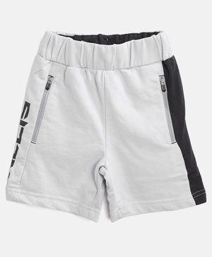 Alcis Text Print Shorts - Grey