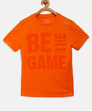 Alcis Half Sleeves Be The Game Printed Tee - Orange