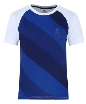 Alcis Half Sleeves Color Blocked Tee - Blue