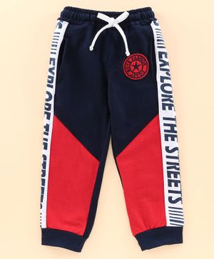 ...and Everywhere Full Length Lounge Pant - Red Navy