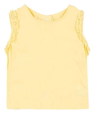 GJ BABY Sleeveless Solid Colour Top - Yellow