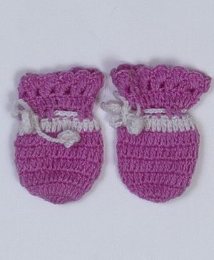 USHA ENTERPRISES Patterned Mittens - Purple