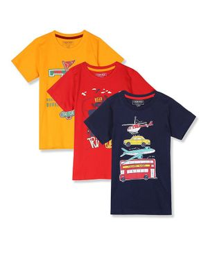 Cherokee Short Sleeves Graphic Print Pack Of 3 Tee - Assorted