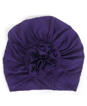 Syga Turban Wrapped Style Winter Cap Violet - Circumference 36 to 55 cm