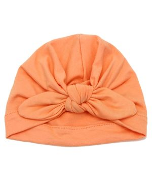 Syga Turban Wrapped Style Winter Cap - Peach