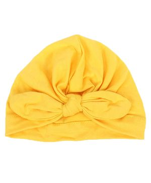 Syga Turban Wrapped Style Winter Cap - Yellow