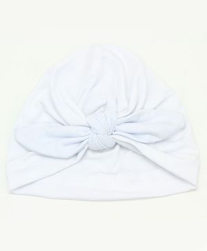 Syga Turban Wrapped Style Winter Cap - Whiite
