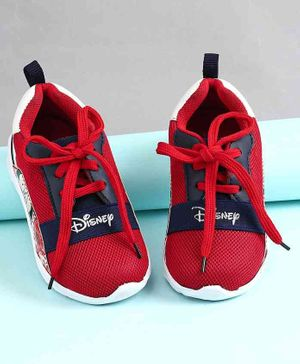Disney  Sport Shoes Mickey Print  - Red