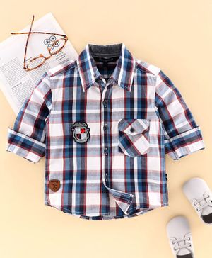 Trendy Cart Full Sleeves Checked Shirt - Blue