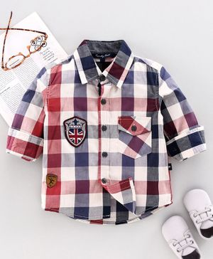 Trendy Cart Full Sleeves Checked Shirt - Multi Color
