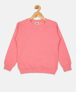Fort Divine Full Sleeves Solid Colour Sweatshirt - Light Pink