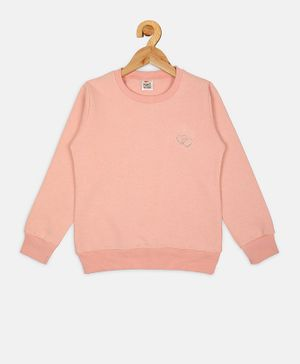 Fort Divine Full Sleeves Solid Colour Sweatshirt - Peach