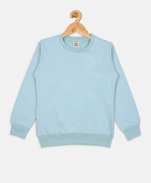 Fort Divine Full Sleeves Solid Colour Sweatshirt - Sky Blue