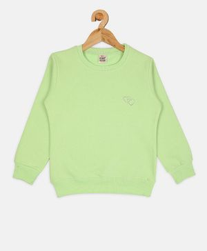 Fort Divine Full Sleeves Solid Colour Sweatshirt - Light Green