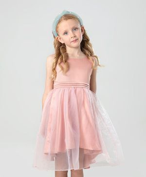 Cherry Crumble By Nitt Hyman Sleeveless Solid Color Party Dress - Peach