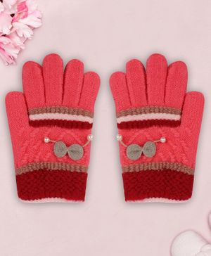 Coco Candy Bow Hand Gloves - Pink