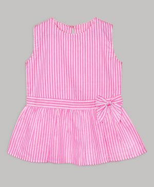 Baby Cloud Sleeveless Striped Top - Pink & White
