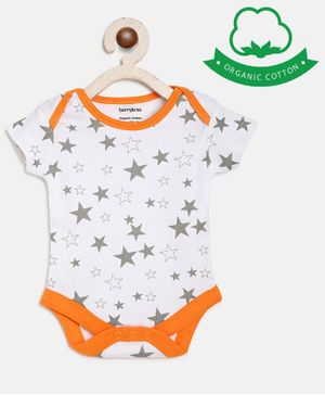 berrytree Organic Cotton Short Sleeves Star Print Onesie - Grey