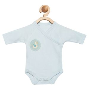 berrytree Organic Cotton Full Sleeves Duck Patch Onesie - Blue