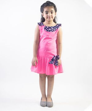 Ruviero Sleeveless Heart Print Collared Dress - Pink