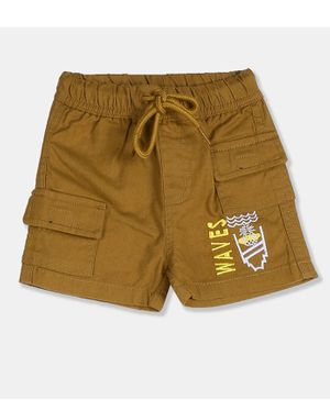 Donut Waves Embroidered Cargo Shorts - Khaki