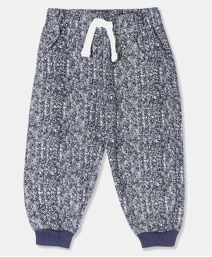 Donut Full Length Patterned Joggers - Navy Blue