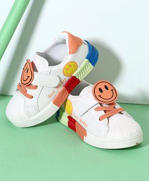Hoppipola Smiley Patch Detailing Casual Shoes - Orange