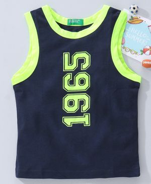 UCB Sleeveless T-Shirt 1965 Print - Blue Green