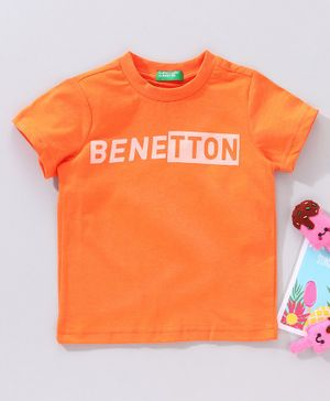 UCB Half Sleeves T-Shirt Benetton Print - Orange