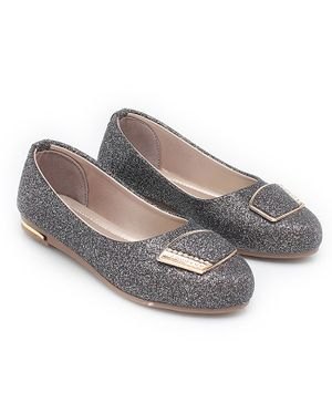 In Fashion by Solly & Dolly Glitter Finish Mary Janes - Silver