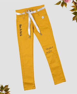 ZIBA CLOTHING Full Length Jeans - Mustard Yellow